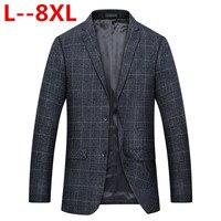 8XL 6XL 5XL 4XL Новый Для мужчин s модный бренд блейзер Британский's Стиль повседневная Slim Fit пиджак мужской пиджаки для мужчин Пальто Терно Masculino