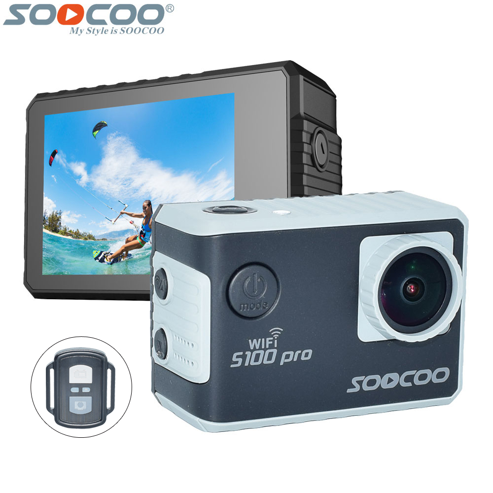 SOOCOO S100 Pro 4K Wifi Action Video Camera 2.0 Touch Screen Voice Control Remote Gyro Waterproof 30m 1080P Full HD Sport DV 2017 arrival original eken action camera h9 h9r 4k sport camera with remote hd wifi 1080p 30fps go waterproof pro actoin cam
