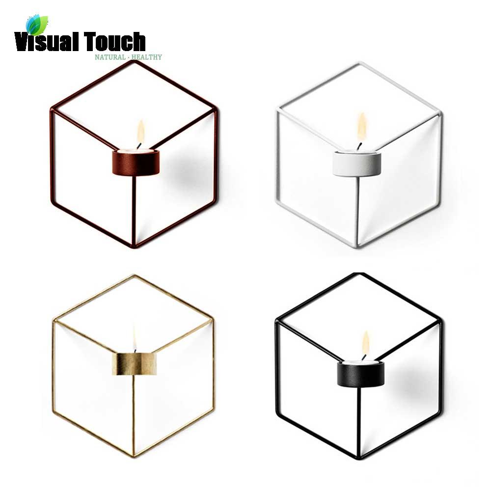 2019 Mode Visuelle Touch Moderne Nordic Stil 3d Geometrische Leuchter Metall Wand Kerzenhalter Leuchte Passenden Kleine Teelicht Ornamente Gut FüR Energie Und Die Milz