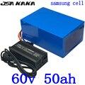 60В 50ач батарея для электровелосипеда 60В 40ач 45ач 50ач литиевая батарея 60В 2000 Вт 3000 Вт 4000 Вт электровелосипеда батарея для самоката