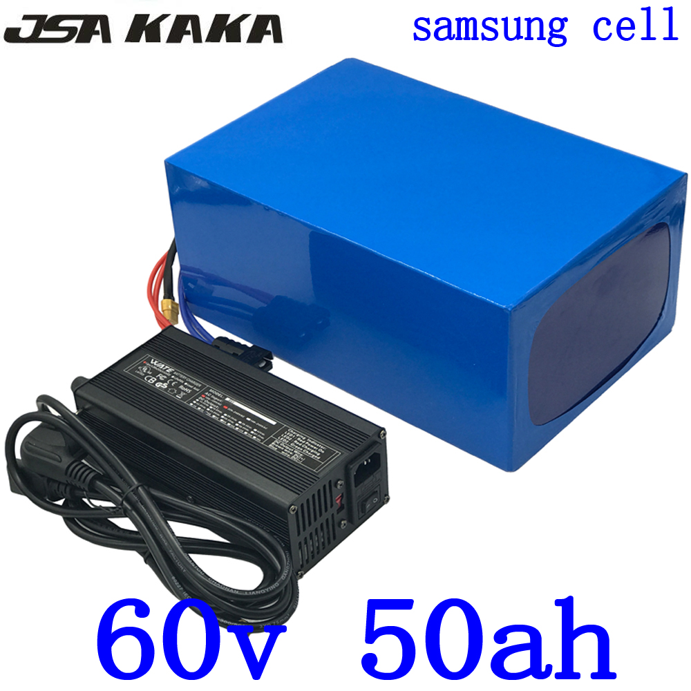 60V 50AH Electric Bicycle battery 60V Lithium Scooter Battery 60V 2000W 3000W 4000W Lithium-ion battery use samsung cell+charger60V 50AH Electric Bicycle battery 60V Lithium Scooter Battery 60V 2000W 3000W 4000W Lithium-ion battery use samsung cell+charger