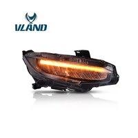 Vland Автомобильный свет в сборе модифицированный головной свет для Honda Civic фара 2016 UP шрифт аксессуары Автомобильные фары