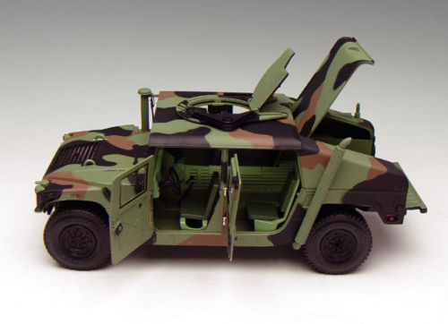 US $199 0 |1/18 EXOTO Diecast Model Hummer US Military HUMVEE Commend  General AM Camouflage Green TDT01801-in Diecasts & Toy Vehicles from Toys &