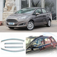 4pcs New Smoked Clear Window Vent Shade Visor Wind Deflectors For Ford Fiesta 09