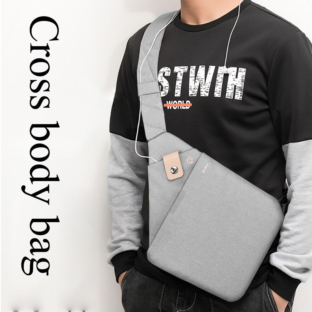 WIWU Tablet Bag for iPad 9.7 inch Waterproof Nylon Shoulder Bag for Xiaomi mi pad 4 Shockproof Cross-body Bag for iPad Mini(China)
