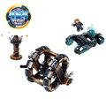 Kazi 464 unids ciudad x-agentes de gran rueda de nuevas armas nave espacial car model building block establece niños juguetes compatibles con legoe regalo