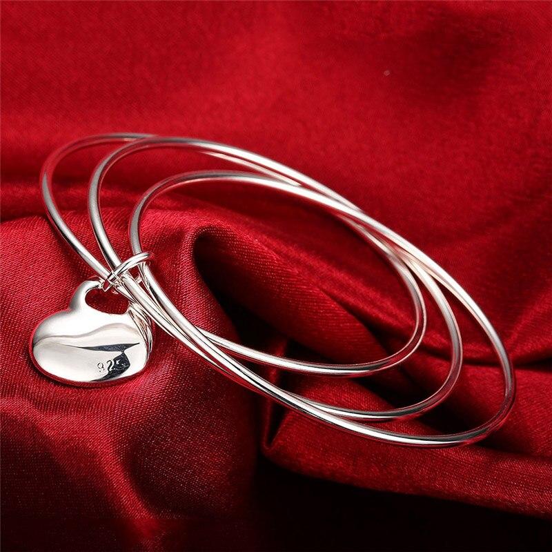 Silver Heart Bangle...