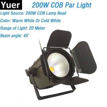 LED パーライト COB 200 ワットハイパワーアルミ DJ DMX Led ビーム洗浄ストロボ効果舞台照明コールドホワイトまたはウォームホワイトオプション