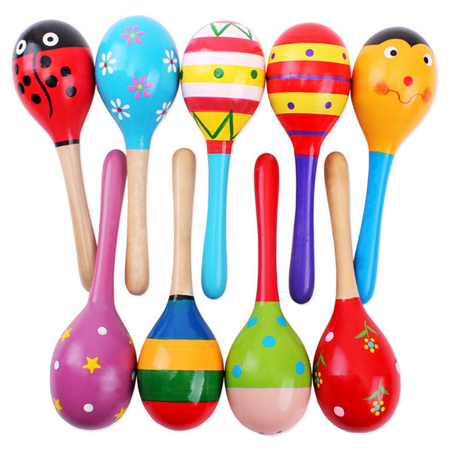colorful wooden toys musical instruments baby toy montessori rattle shaker kids toys music toys for babies