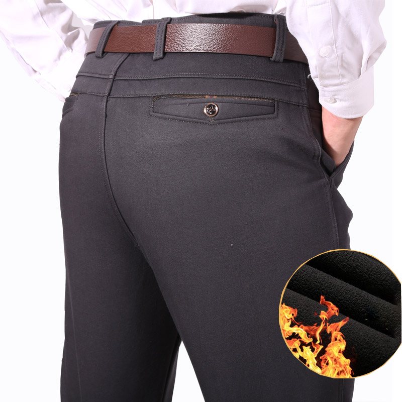 912e31c06 2018 Otoño Invierno hombres espesar polar pantalones calientes de algodón  masculino pantalones ...