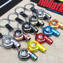 Luxury metal Car-styling Turbo Keychain Key Chain Ring Keyfob Keyring