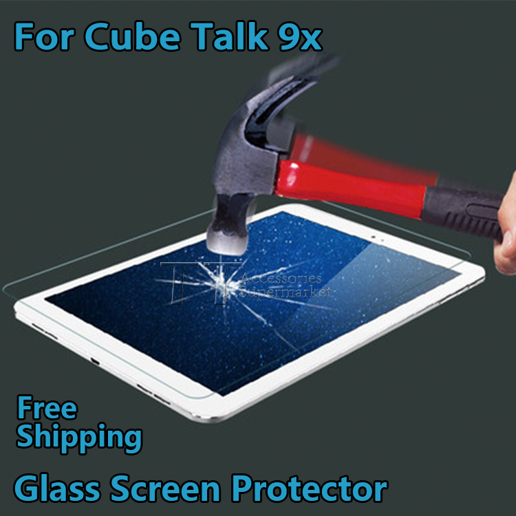Free shipping Tempered Glass Screen Protector for Cube talk 9x U65GT 9.7'tablet pc,Cube talk9x Glass Screen Protector цены