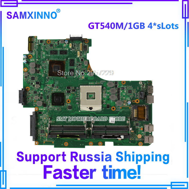 GT540M/1GB 4*sLots N53SV Motherboard GT540M-REV:2.2 For ASUS N53S N53SN N53SM laptop Motherboard N53SV Mainboard Motherboard цена 2017