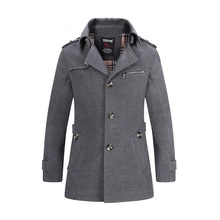 Hooded Overcoat Mens Thick Winter parkas Fashion Long Trench Coat Men Jacket Comfortable Windbreaker Quality Jackets Outwear 542