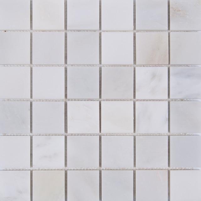 Carrara weiß grau marmor mosaik fliesen küche backsplash