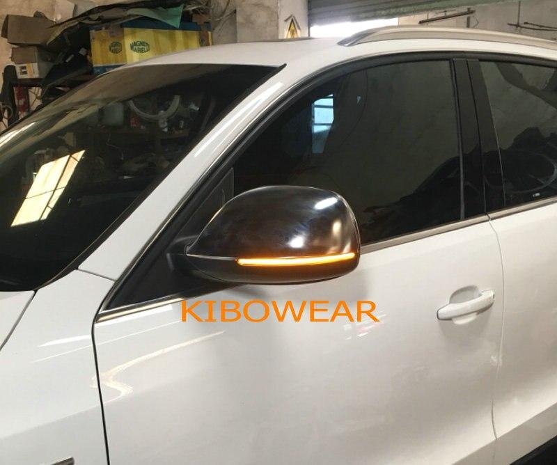 Kibowear per Audi Q5 SQ5 8R Q7 4L Dinamica Lampeggiante LED Indicatori di Direzione Luci Specchio Laterale indicatore di 2009 2010 2011 2012 2013 2016