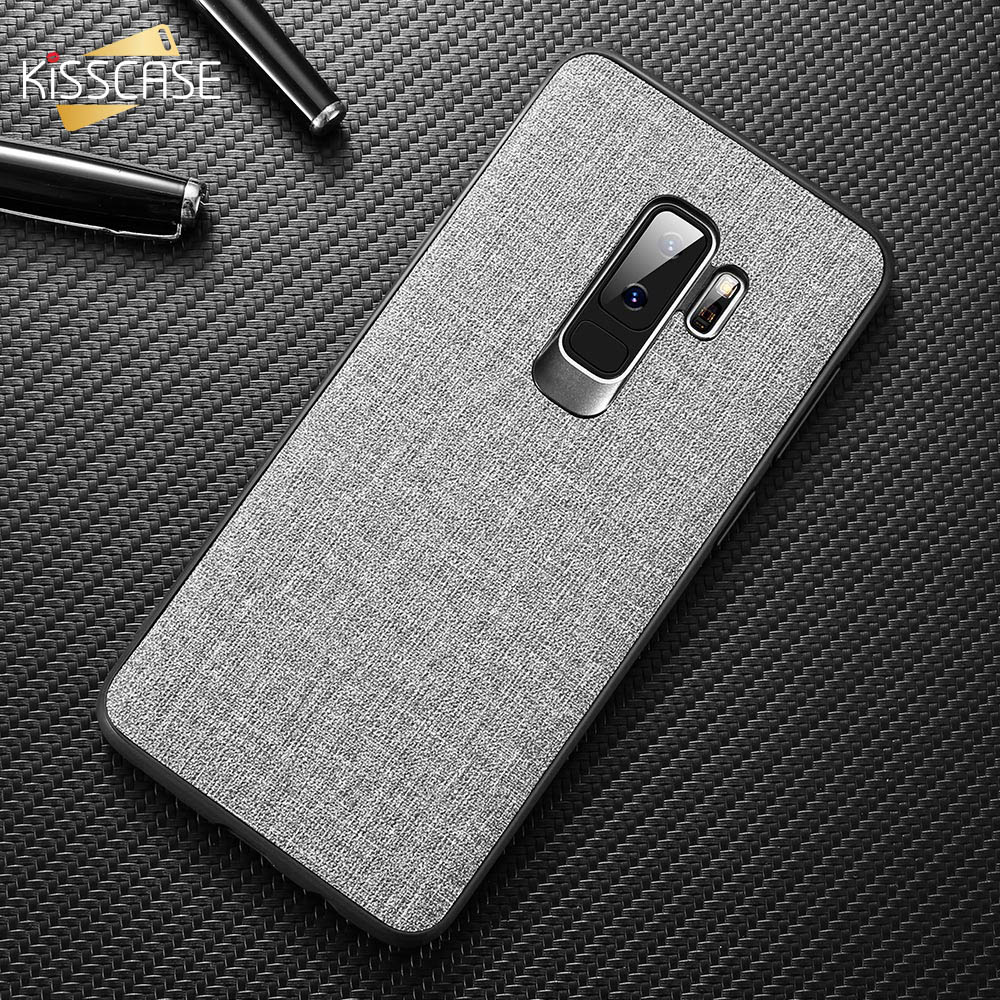 KISSCASE Fabric Cloth Case For <font><b>Samsung</b></font> Galaxy A6 A8 <font><b>2018</b></font> S8 S9 Plus Luxury Phone Case For <font><b>Samsung</b></font> Note 8 9 S7 A9 <font><b>A7</b></font> <font><b>2018</b></font> <font><b>Capa</b></font> image