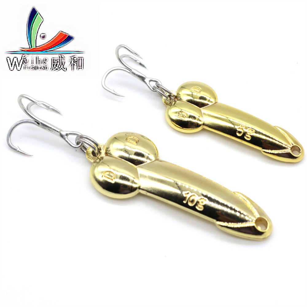1Pcs Steel Hooks 5cm 5 10 15 20g Gold/Sliver Sequins Penis Spoon Hard Metal Lure For Hooks Bait Rocking Fishing Wobblers Spinner fulljion fishing lures bass crankbait spoon hand spinner crank bait metal sliver gold fishing tackle with 6 hooks 1pcs 5cm 11g page 7
