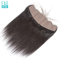 Full Silk Base Ear To Ear Frontal Straight Brazilian Human Remy Hair 13x4 Lace Frontal Closure Pre Plucked Free Shipping