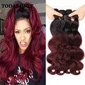 Stema cabelo onda do corpo brasileiro 3 pacotes 99j borgonha onda do corpo brasileiro do cabelo virgem tecer cabelo brasileiro feixes fórmula sexy