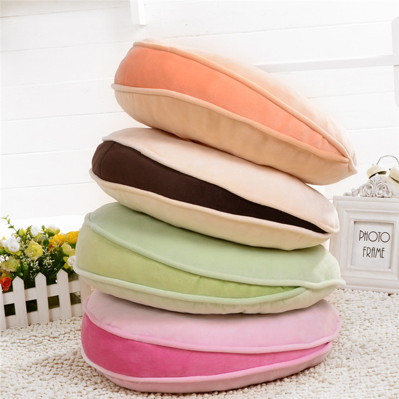 40x40x8cm round chair cushion better back solid velvet sponge sofa cushion donut cushions home decor throw