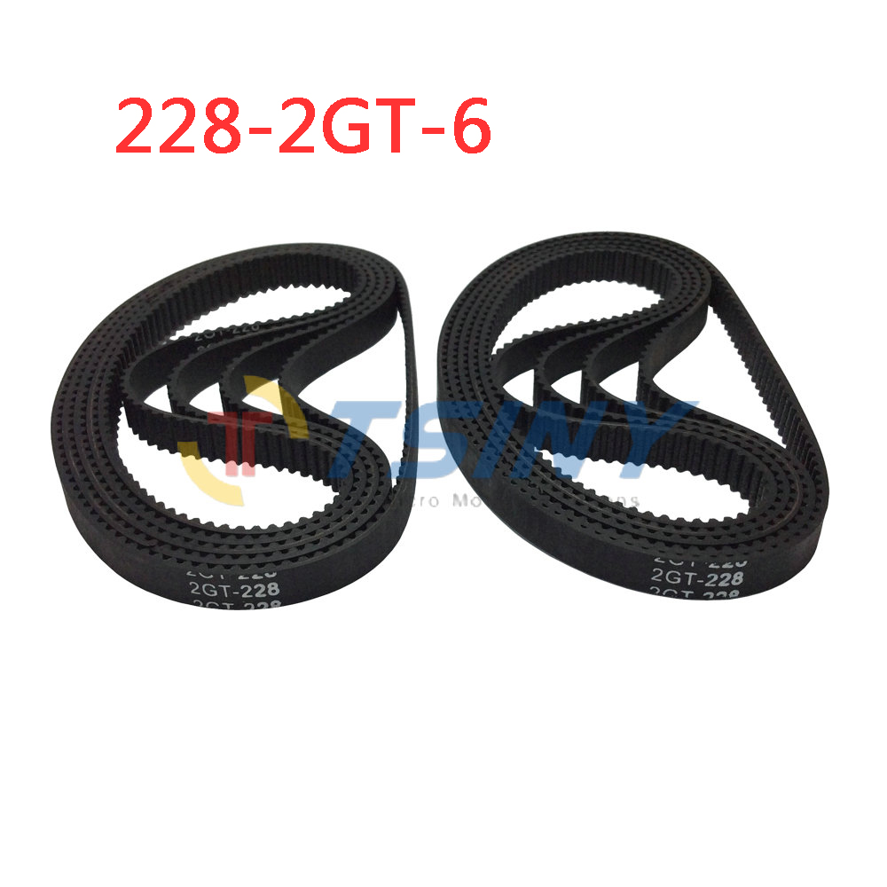 2gt Stampante 3d Timing Belt 114 Teeth Rubber Ribbed 228mm Rib Harness Clip Wiring Length 6mm Width 10pcs Lot