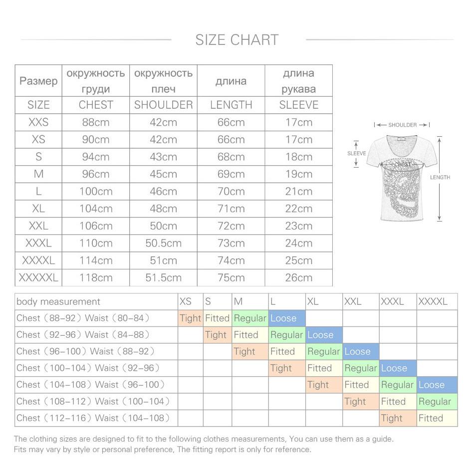 Männer Schädel 3D T Shirts Baumwolle Graphic Tees Tops V-ausschnitt - Herrenbekleidung - Foto 6