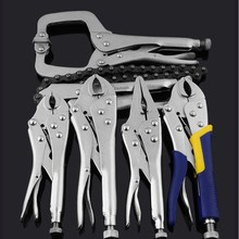 Large Torque Locking Pliers Steel Round Mouth Pliers Tip Pliers Round Pliers Fixed   Clamping Pliers Pipe Clamp Fixed Hand Tools 10 inch chain pliers adjustable professional welding fixed tool chain locking plier chain wrench quick clamp pliers