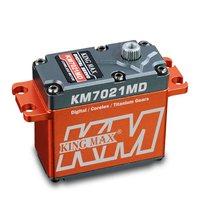 KINGMAX KM7021MD standard servo 72g 21kg.cm full metal case titanium gear water proof dual ball bearing for RC airplane car