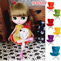 10Pcs/Lot Wholesale Doll Accessories Mini BJD Chiar Plastic Doll Chair 1/6