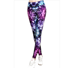 Sexy Women Sporting Leggings 3D Purple Diamond Printing Slim Pants Elasticity Jeggings