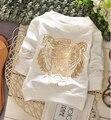 ( 1 peças/lote ) 100% algodão 2016 tigre Outerwear