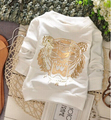 (1piece /lot) 100% cotton 2016 White tiger baby Outerwear
