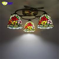 FUMAT Flores Forma Luz de Teto Luminárias de Vidro Europeu Do Vintage Criativo Minimalista Sala de estar Lâmpada Luminária LED