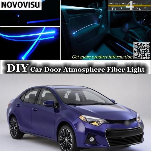 NOVOVISU For TOYOTA Corolla Interior Ambient Light Tuning Atmosphere Fiber  Optic Lights Inside Door Panel Illumination