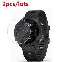 2 cái/lốc Cho Garmin Forerunner 245 Kính Cường Lực 9 H 2.5D Cao Cấp Màn Hình Bảo Vệ Cho Garmin Forerunner245m Đồng Hồ Thông Minh Smartwatch