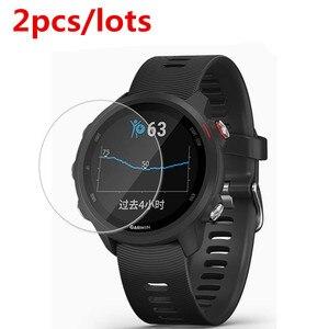 Image 1 - Protector de pantalla Premium para Garmin Forerunner 245 cristal templado 9H 2.5D, 2 unidades/lote, película para reloj inteligente Garmin Forerunner245m