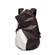 Teenage School Bookbag High Quality PU Leather Travel Backpack Men Casual Vintage Rucksack стоимость