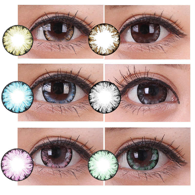2Pcs/1pair Lovely Multicolor Mini Party s Cute Cartoon Girl Beautiful Cosplay Decor For Eyes Care Tools