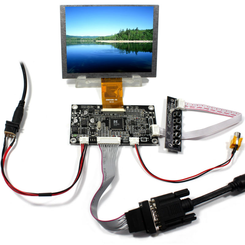 VGAAV Lcd Controller board KYV N2 V6 5inch ZJ050NA 08C replacement AT050TN22 640x480 lcd panel
