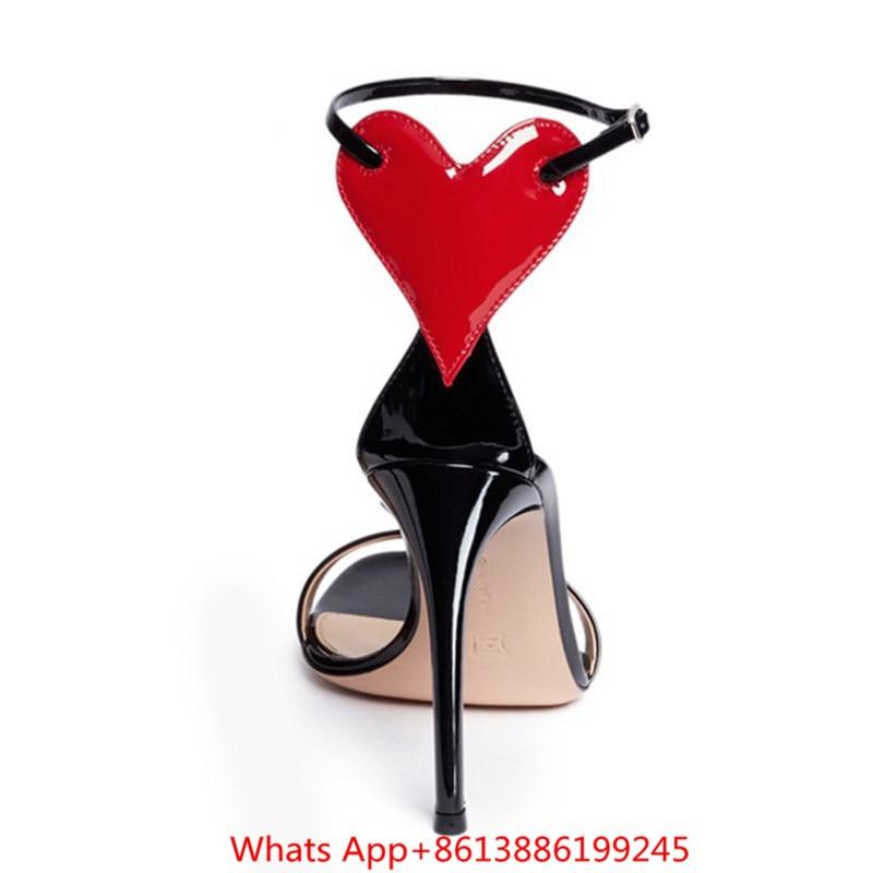 Chaussures Femme Peep Talons Amour Designer 10cm Coeur Découpe Zapatos De 2018 New Sandalias Haute Sandales Toe Heels Gladiateur Pompes Femmes Mujer CY0v70q6xw