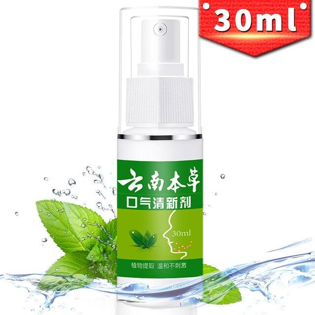 Nuevo 30 ml tratamiento de Halitosis pulverización de menta refrescador de aliento espray bucal ambientador antibacteriano espray Oral ambientador