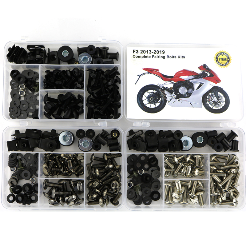 For MV AGUSTA F3 2013-2019 Complete Full Fairing Kit Motorcycle Cowling Bolt Bodywork Side Covering Screws Nuts
