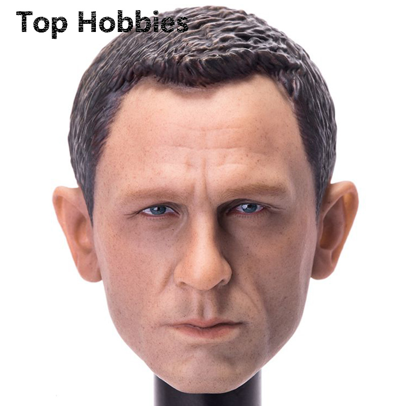 1/6 Scala Daniel Craig Testa Sculpt Per Skyfall 007 James Bond Agents Head carving Fit 12 Inch Phicen Action Figure Doll Toys