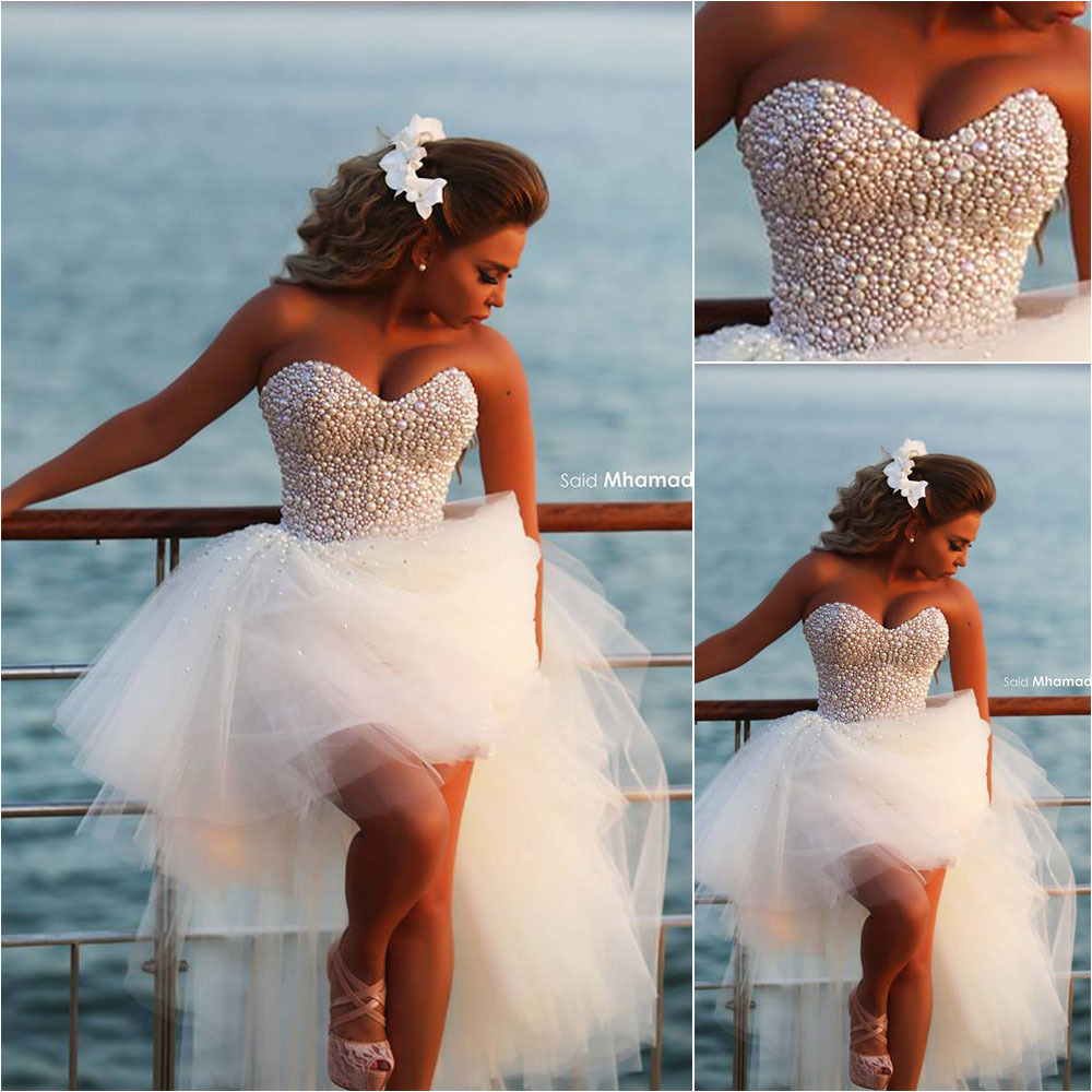 Said Mhamad Hi Lo Summer Style Beach Wedding Dresses 2015 Bridal ...