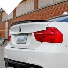 Para BMW E90 spoiler E90 y E90 M3 de fibra de carbono trasero spoiler tronco 318i 320i 325i 330i 2005-2011 E90 sedán ala trasera