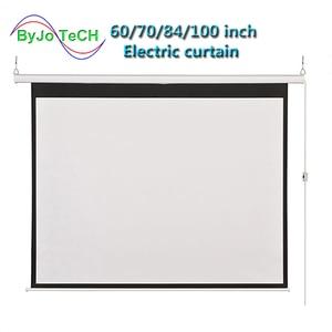 Image 1 - HD ウォールマウント投影電動スクリーン 60 72 84 100 インチ 16:9 または 4:3 プロジェクターホーム Theate ガラス繊維 1.2 ゲイン