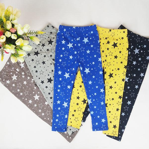 Child Kids Girls Warm Slim Thin Star Printed Pants Skinny Pants Warm Stretchy Leggings 2018 цены онлайн