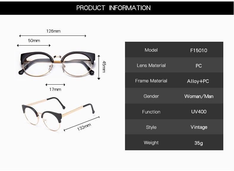Женские очки, кошачий глаз, очки, Ретро стиль, половинная оправа, металлические оправы для очков, по рецепту, оптическая близорукость, компьютерные прозрачные очки