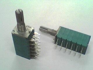 Potentiomètre à six joints A10K * 6   Précision Taiwan A10K * 6 longueur de larbre 20MM 1 pièce